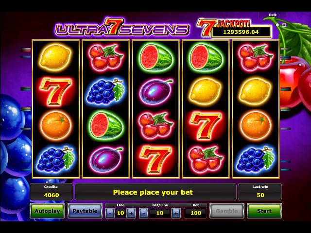 หาเงินจากเกมออนไลน์ Ultra Sevens
